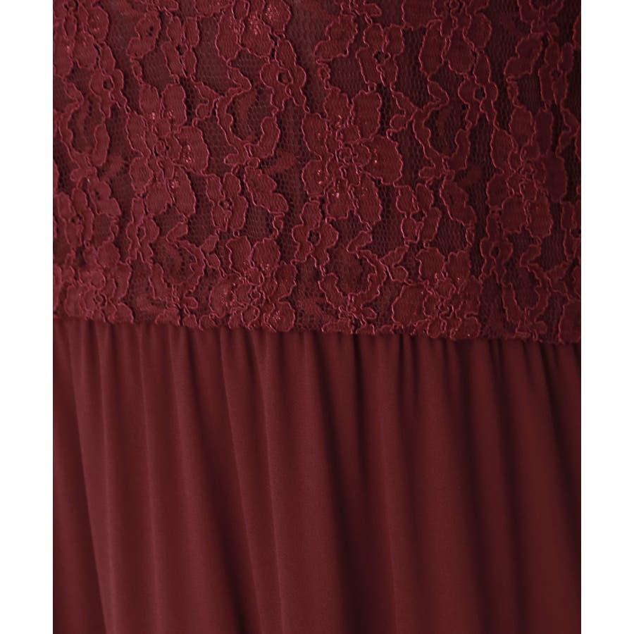 【結婚式・セレモニー】ティアードデザインが新しい♪レース切り替えドレス 7
