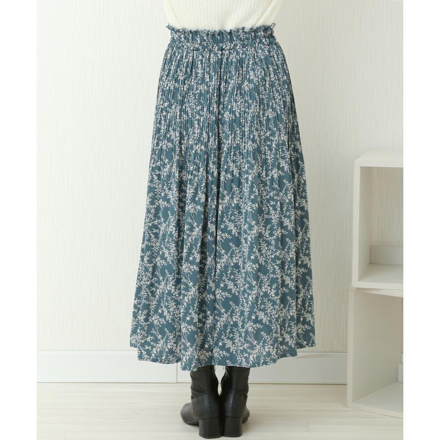 花柄ウエストフリルプリントスカート 3