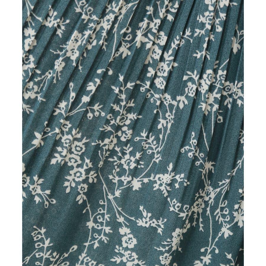花柄ウエストフリルプリントスカート 6