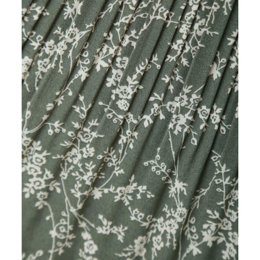 花柄ウエストフリルプリントスカート 7