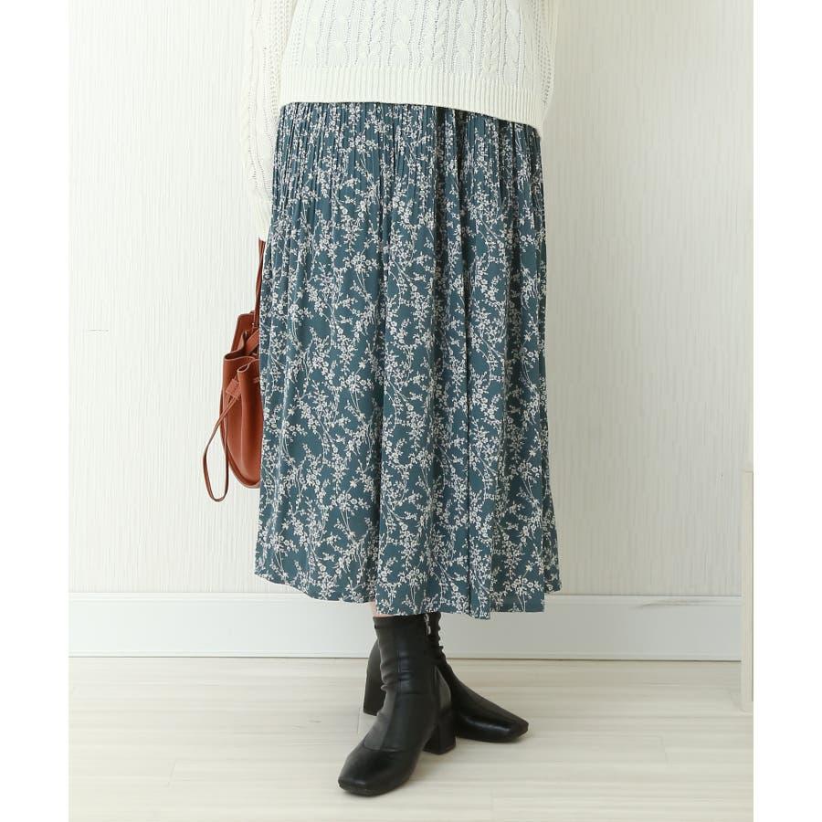 花柄ウエストフリルプリントスカート 59