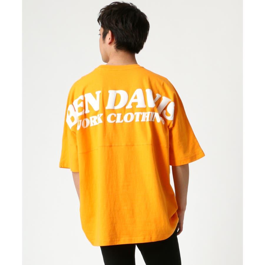 BEN DAVIS/ベンデイビス ビッグシルエット ロゴ バックプリント Tシャツ 99