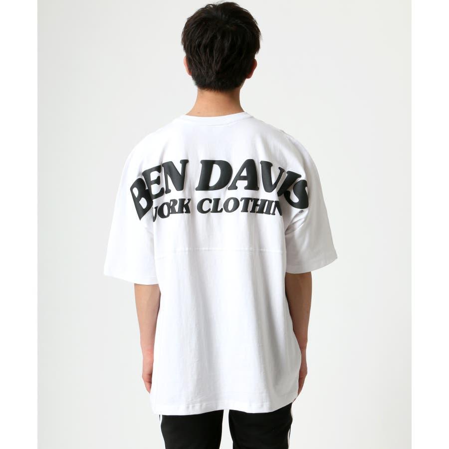 BEN DAVIS/ベンデイビス ビッグシルエット ロゴ バックプリント Tシャツ 3