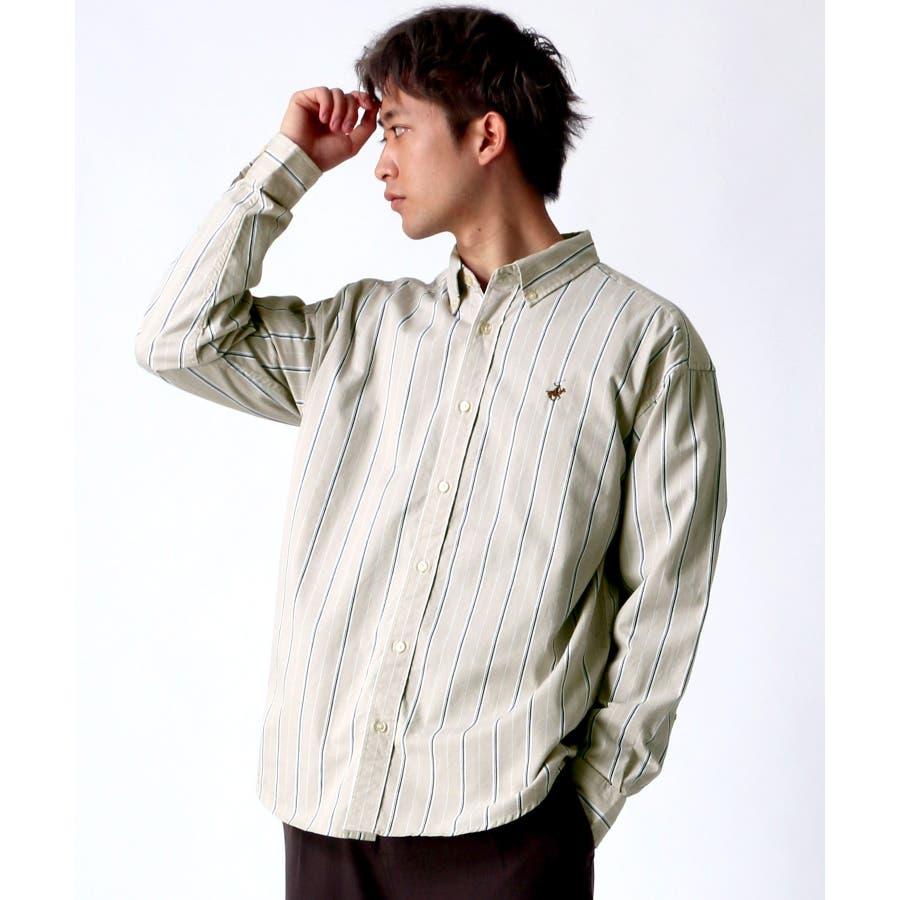 BEVERLY HILLS POLO CLUB/ビバリーヒルズポロクラブ 無地 ストライプ ボタンダウンシャツ 20