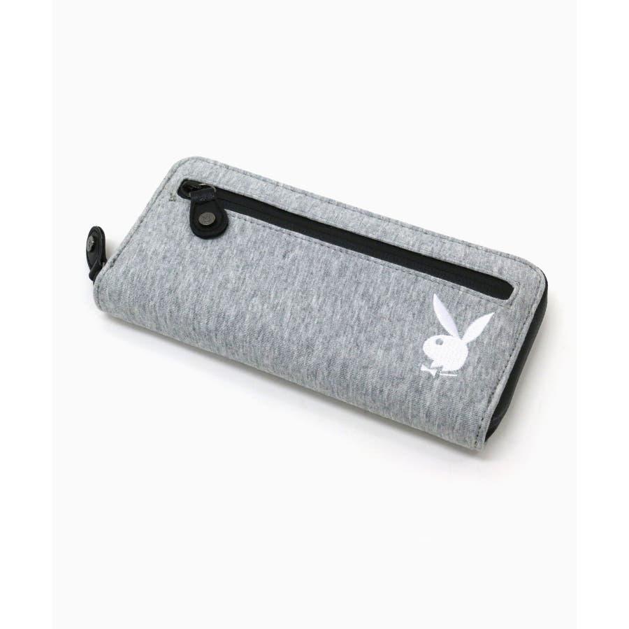 Playboy 3 Pocket Pencil Case Black//Silver