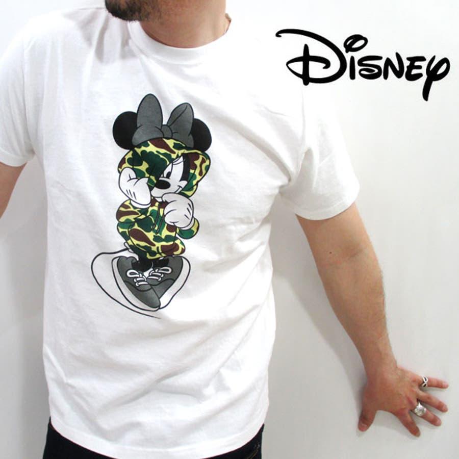 普段着として活躍中です メンズファッション通販Disny ディズニー ~天竺素材~ 『カモフラパーカー』 ミニー半袖Tシャツ 11412135 卒然