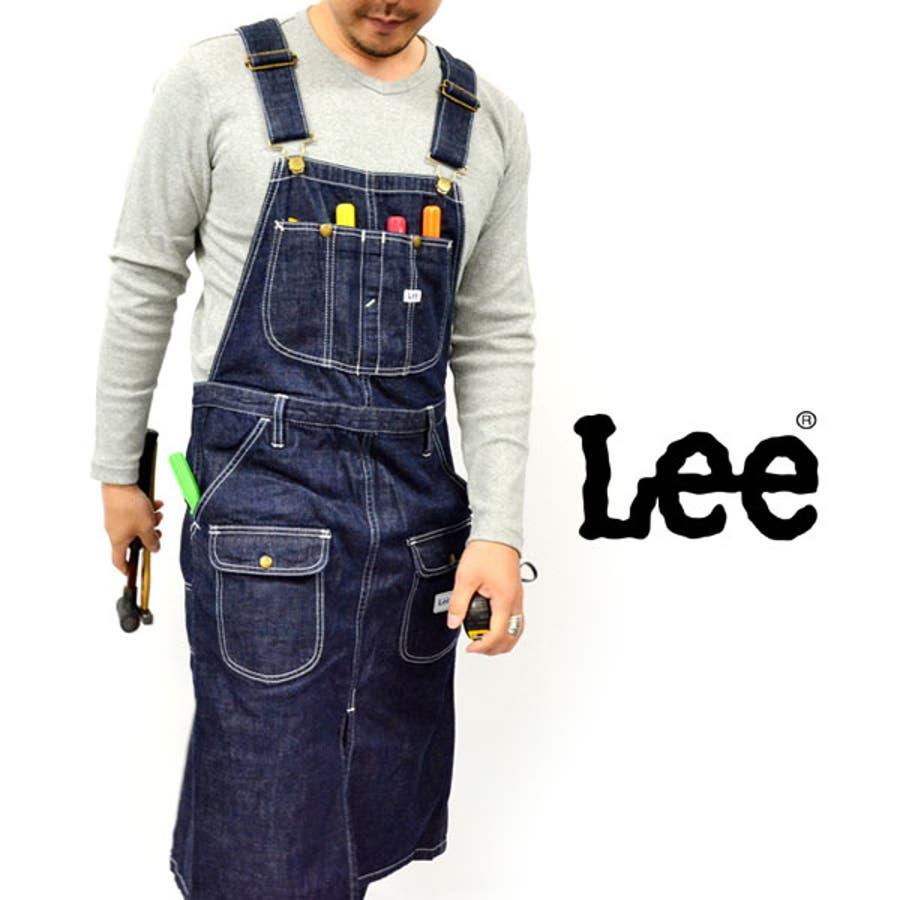 Lee/リー ~デニム素材~全1色!Lサイズ エプロン 胸当て型