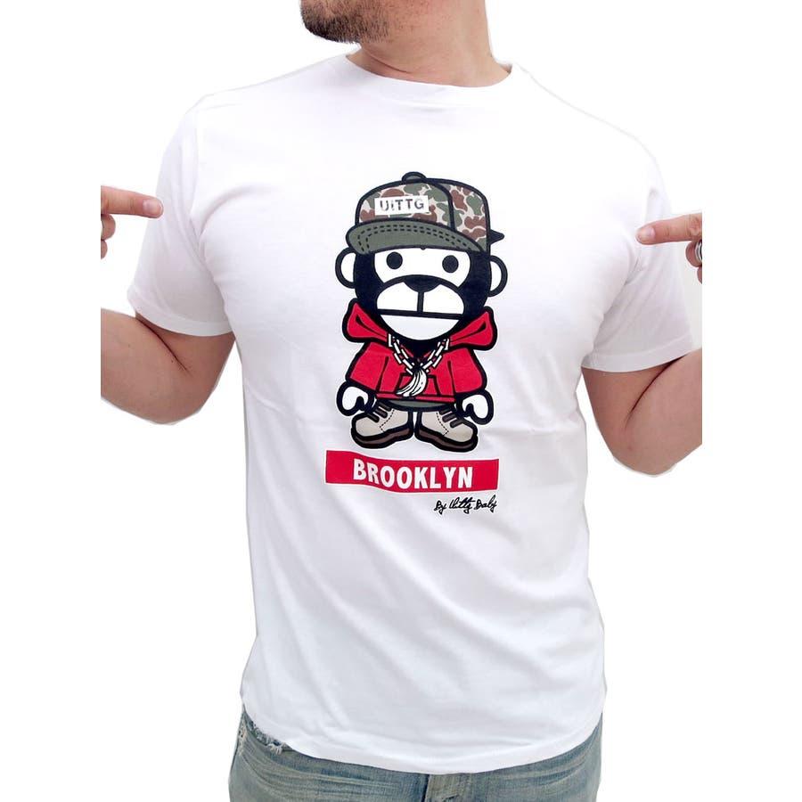 皆が買ってる!間違いない メンズファッション通販Tシャツ 半袖 メンズ ウィッグベイビー かわいいサルプリントT ストリート スポーツ アメカジ スケボー おもしろ ブランド 夏 ティーシャツ メンズファッション モンキー  XL LL 豪傑