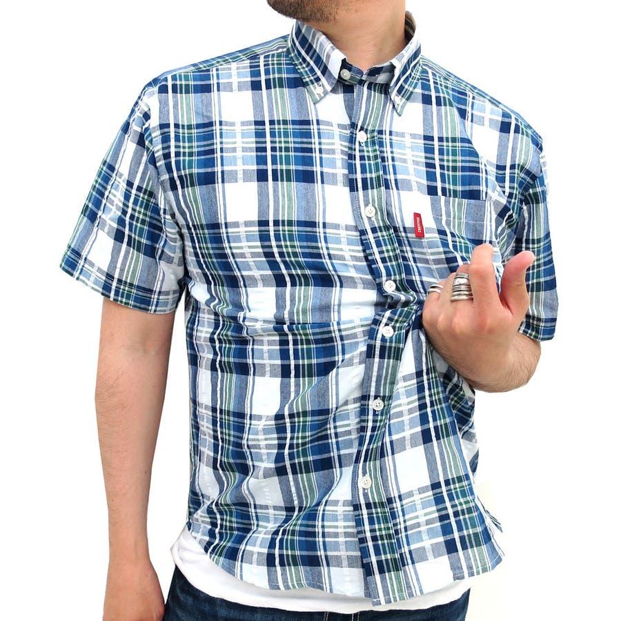 今後来ること間違いなし コンバース サッカー チェック シャツ 半袖 メンズボタンダウン  converse アメカジ メンズシャツ カジュアルシャツ スポーツ コットン 綿 BD XL LL メンズカジュアル 強盗