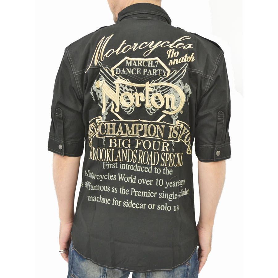 かなりの割合ヘビロテしてます 大きいサイズ メンズ シャツ 5分袖 キングサイズ 3L 夏  ミリタリー ストレッチ 刺繍 肩章 半袖 バイカー バイク 大詰