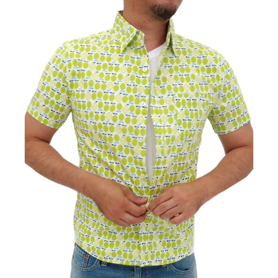 これからの時期いっぱい愛用します シャツ メンズ 半袖 フルーツ 柄 プリントレギュラー衿  コットン カジュアル オレンジ イチゴ レモン メンズ半袖 XL LL メンズファッション 根拠