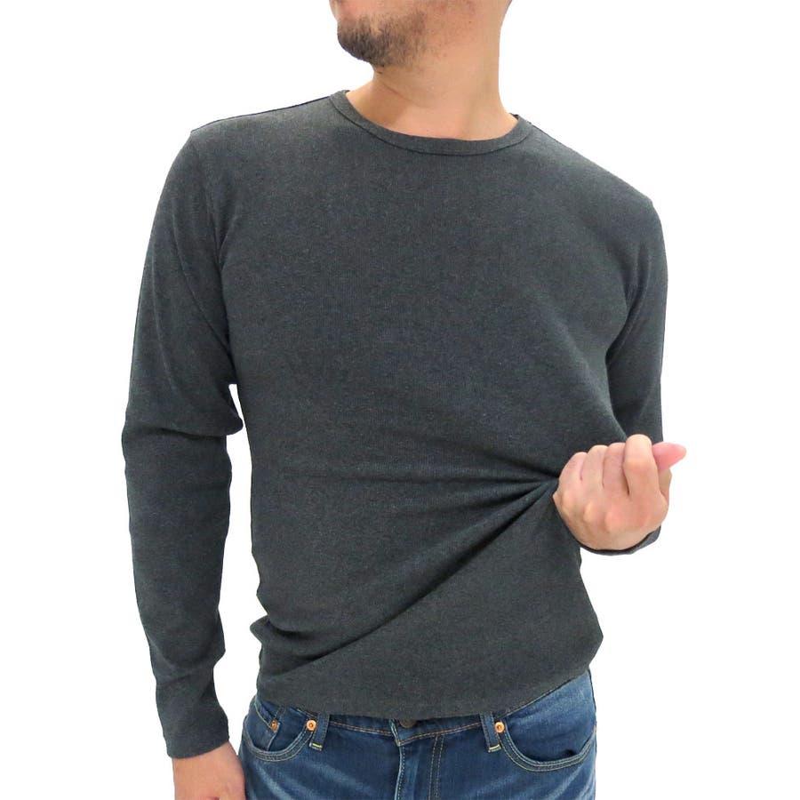 買って損はしないと思う アビレックス Tシャツ メンズ 長袖 無地 クルーネック リブカットソー  AVIREX インナー Dairy デイリー 長袖Tシャツ テレコ ストレッチ S XL LL シンプル ミリタリー プリント メンズファッション 慰安