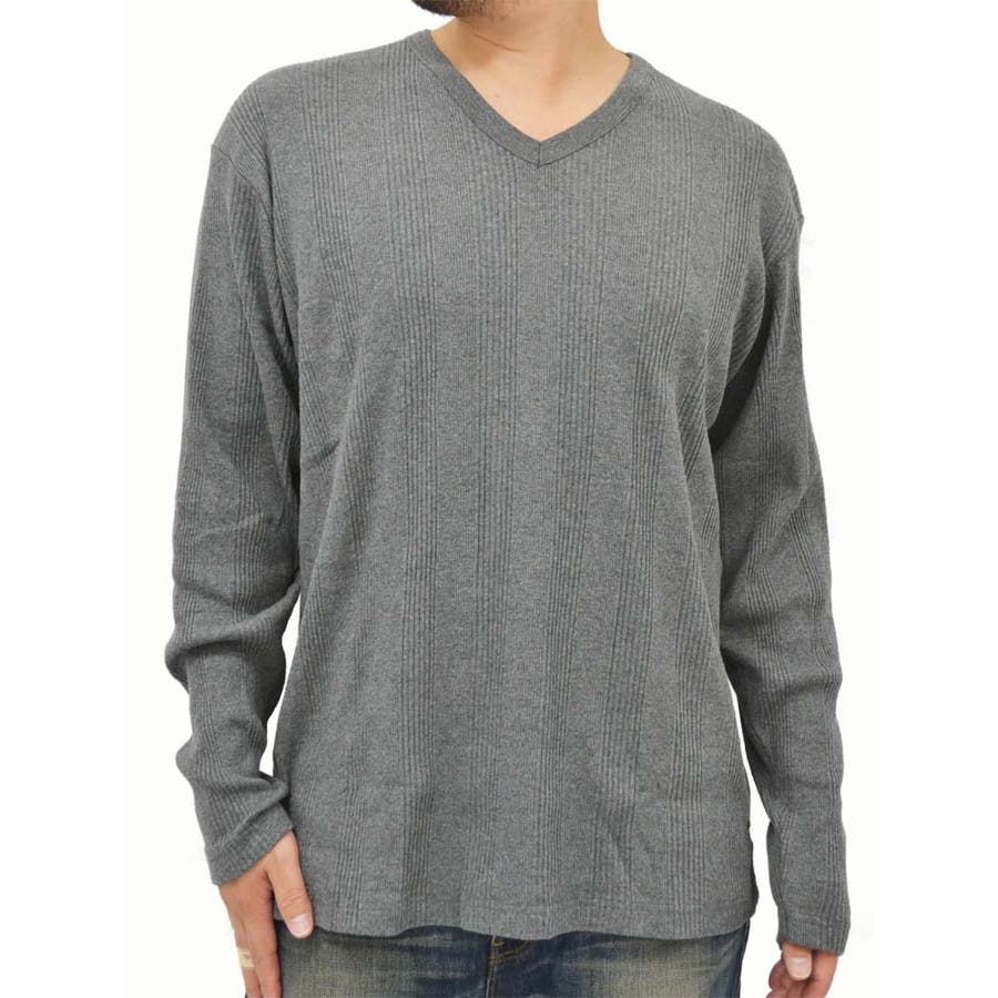 新しいジブンをアピール! メンズファッション通販大きいサイズ メンズ Tシャツ 長袖EDWIN キングサイズ 3L 4L 5L  エドウィン Vネック ストライプ ジーンズ ジーパン 無地 きれいめ シンプル  秋冬 敢然