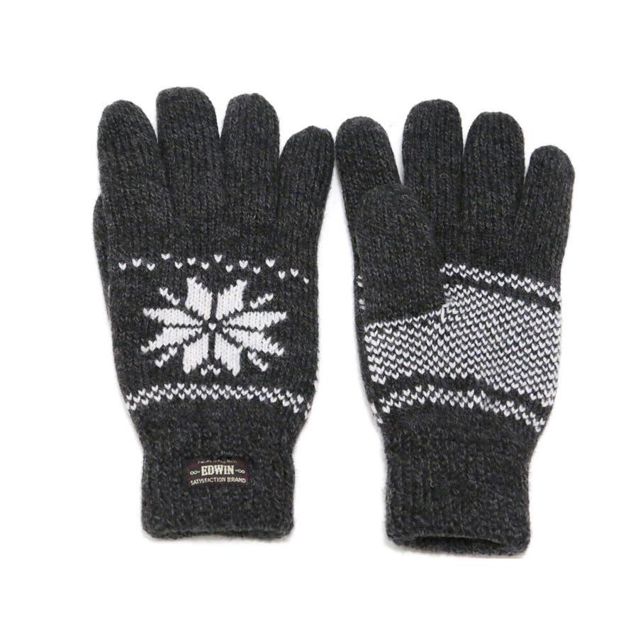 手袋】【雪柄】手袋 メンズ 手袋...