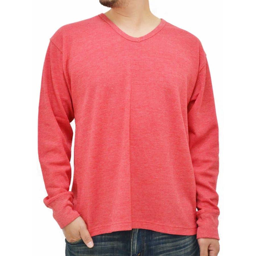 一着は持っておきたい メンズファッション通販大きいサイズ メンズ Tシャツ 長袖 Vネックサーマル素材 キングサイズ 2L 3L 4L 5L  ワッフル 無地 きれいめ カジュアル シンプル 決定
