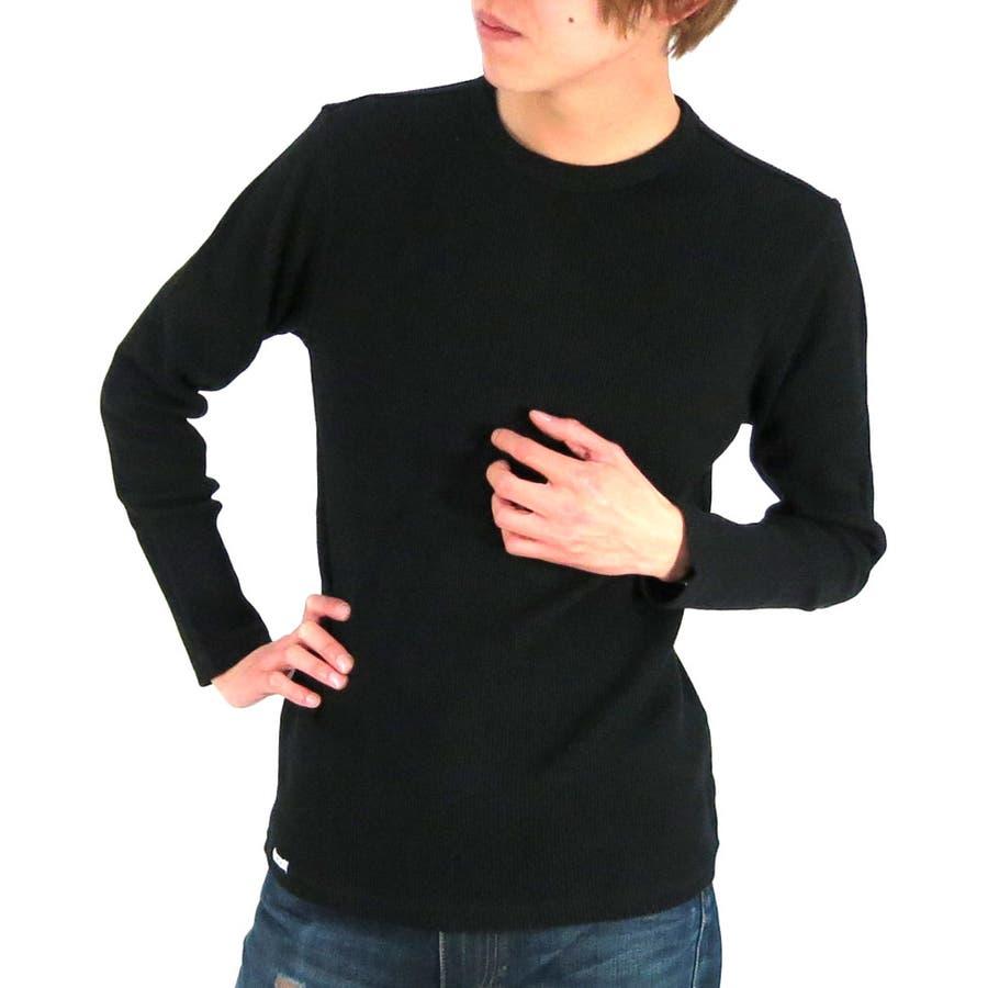 どんなコーデに も使える メンズファッション通販エドウィン Tシャツ メンズ ワッフル クルーネック 長袖カットソー  EDWIN クルー 無地 インナー サーマル 秋冬 ロングスリーブ ロンT XL LL S 罰則