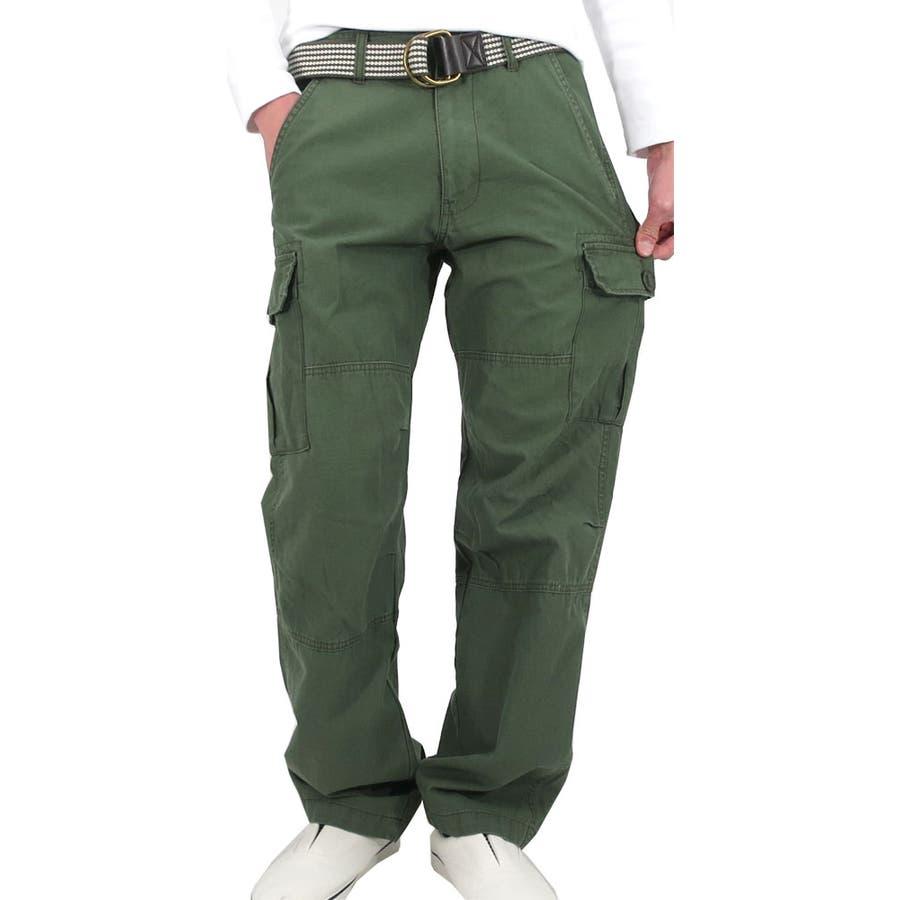 この値段で買えるのはかなりお得 カーゴパンツ メンズ ミリタリーカジュアル  アメカジ ワーク ストリート ロングパンツ カジュアル メンズ ベルト付き ポケット カーキ 黒 ベージュ S M L LL メンズファッション 罰点