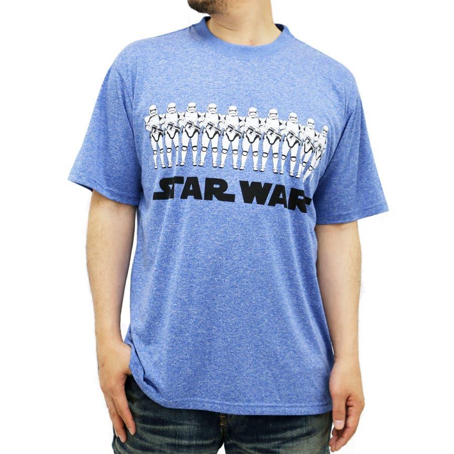 明日から使える メンズファッション通販大きいサイズ メンズ Tシャツ 半袖 STAR WARS キングサイズ 2L 3L 4L 5L  スターウォーズ ストームトルーパー 吸汗速乾 ドライ プリント STORM TROOPER 爆心
