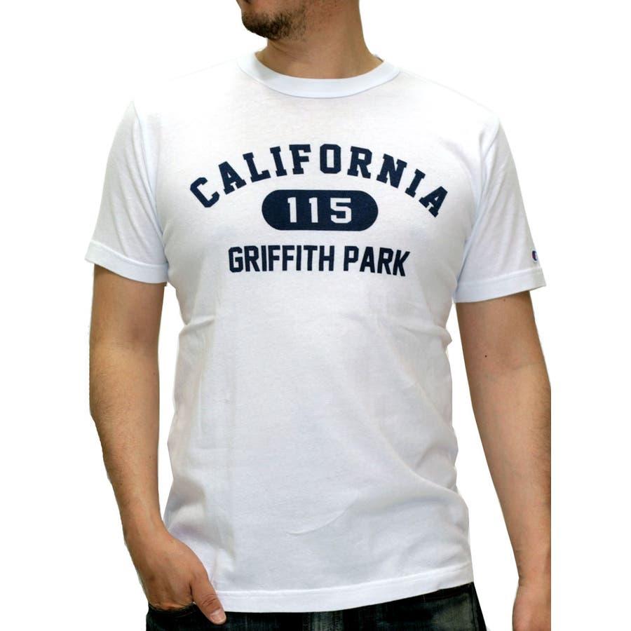 色合いが良く気に入りました メンズファッション通販チャンピオン Tシャツ メンズ 半袖 ロゴプリントT  Champion クルーネック アメカジ ストリート カレッジプリント 英字プリント ユニセックス メンズファッション スポーツ XL LL C8-H319 下駄