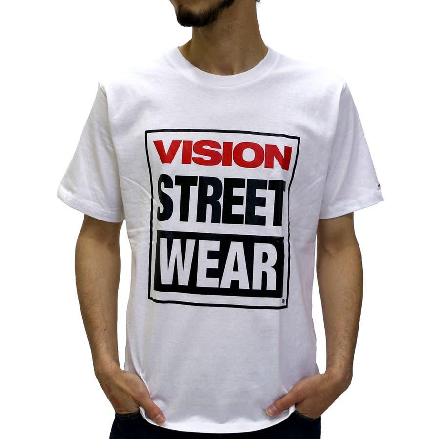 一歩踏み込んだスタイル メンズファッション通販ヴィジョンストリートウェアー Tシャツ メンズ マグロゴ プリント Tシャツ 半袖  VISION STREET WEAR Tシャツストリート ブランド アメカジ XL LL Tシャツメンズ 半袖 大事