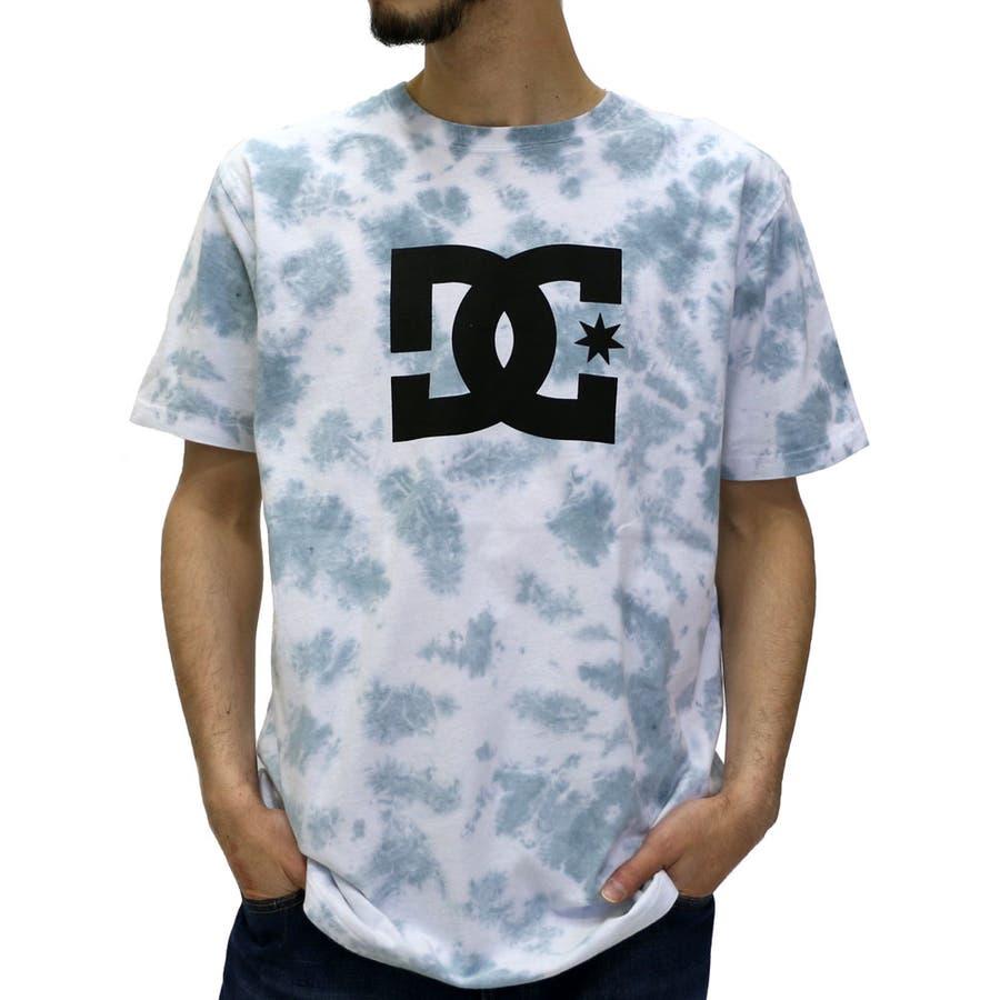 形がキレイ メンズファッション通販ディーシー タイダイ染め プリントTシャツメンズ  ストリート スケート アメカジ スケボー ロゴ ムラ染め 半袖 Tシャツ DC ブランド XL LL メンズファッション 五色