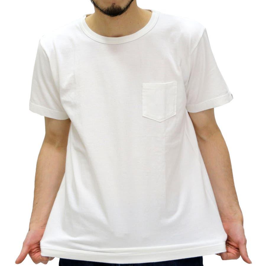 爽やかな感じでオッケーです アルファ Tシャツ メンズ ポケット付き 無地 Tシャツ 半袖  ALPHA クルー ポケット Tシャツ ポケット ポケT アメカジミリタリー ポケット Tシャツ 半袖 TC1072 剛毅