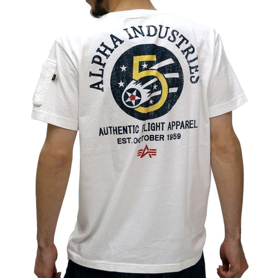 他の色もリピします アルファ Tシャツ メンズ シガーポケット プリント Tシャツ 半袖  ALPHA ミリタリー MA-1 ポケット ポケT アメカジALPHA Tシャツ 半袖 メンズ XL LL TC1085 軍医