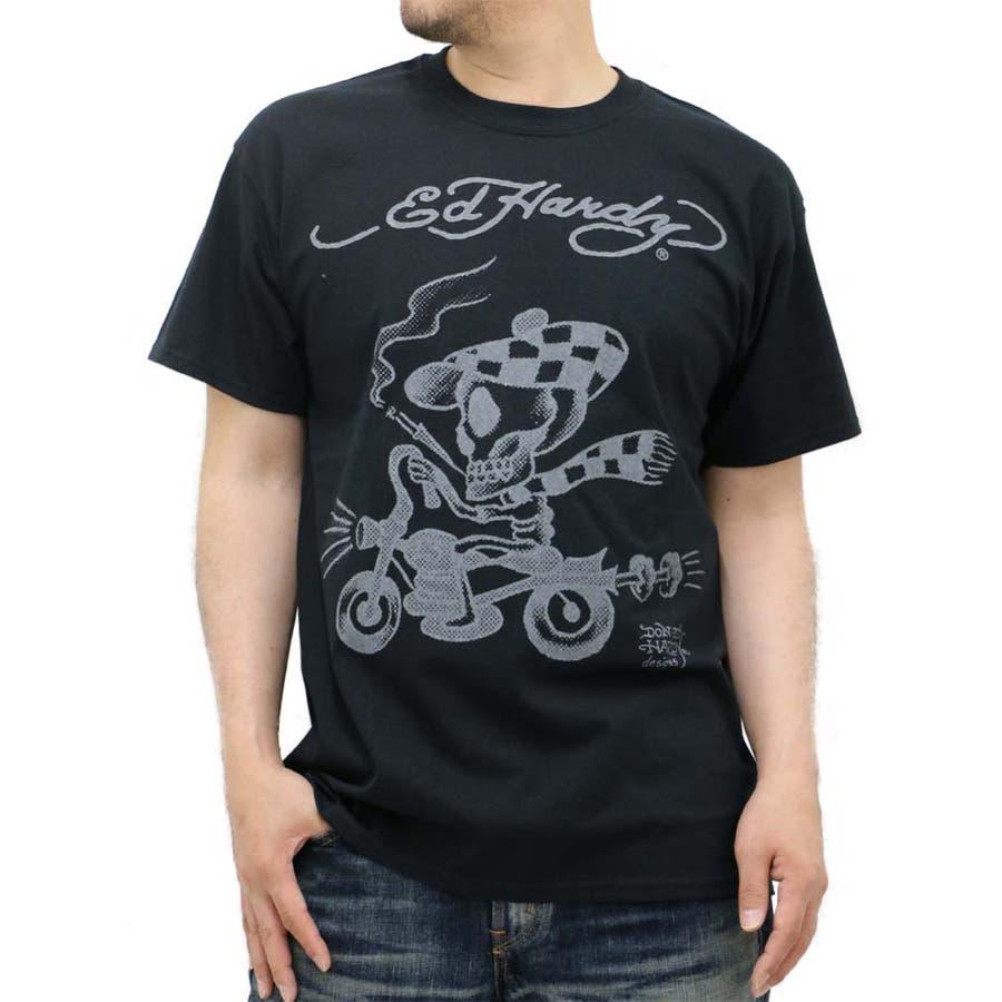 まさにストレスフリーな着心地 メンズファッション通販大きいサイズ メンズ Tシャツ 半袖 Ed Hardy キングサイズ 2L 3L 4L 5L  エドハーディ バイク ドクロ スカル バイカー プリント 枯渇