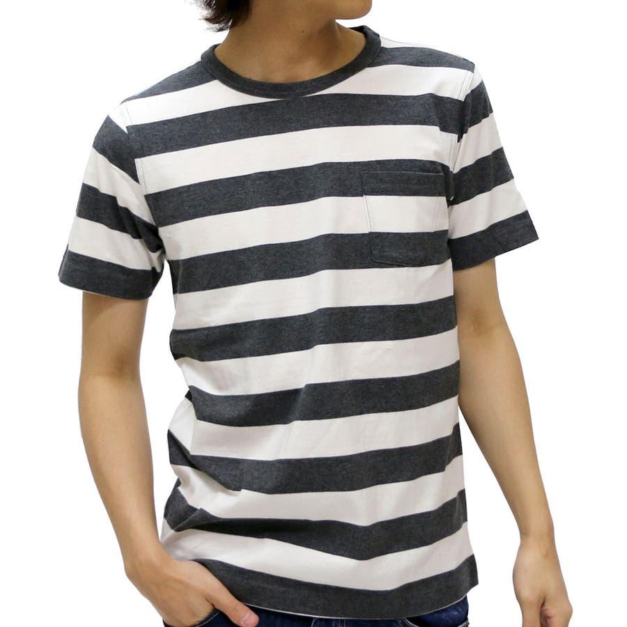 これからの季節リピします メンズファッション通販エドウィン Tシャツ メンズ クルーネック ボーダー ポケット付き Tシャツ 半袖  EDWIN ティーシャツ カットソー アメカジボーダー XL LL ポケットTシャツ Tシャツ ボーダー 駁論