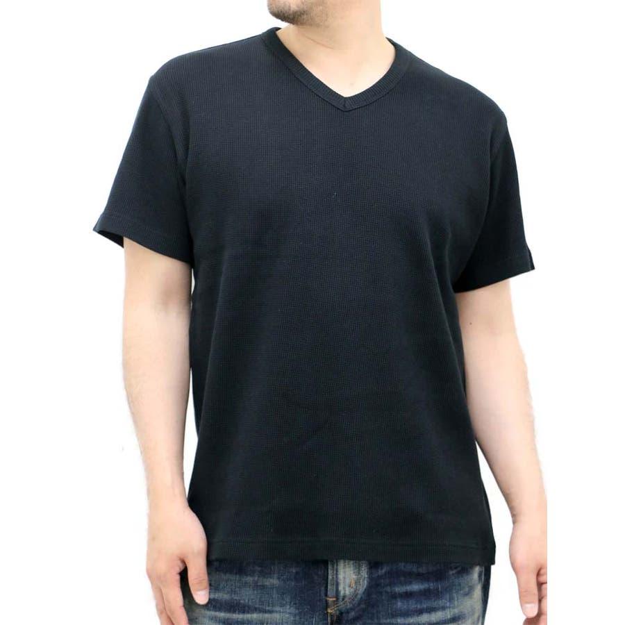 簡単におしゃれになれちゃう メンズファッション通販大きいサイズ メンズ Tシャツ 半袖EDWIN キングサイズ 2L 3L 4L 5L  エドウィン Vネック 無地 ワッフル サーマル きれいめ シンプル 清潔感 肝心
