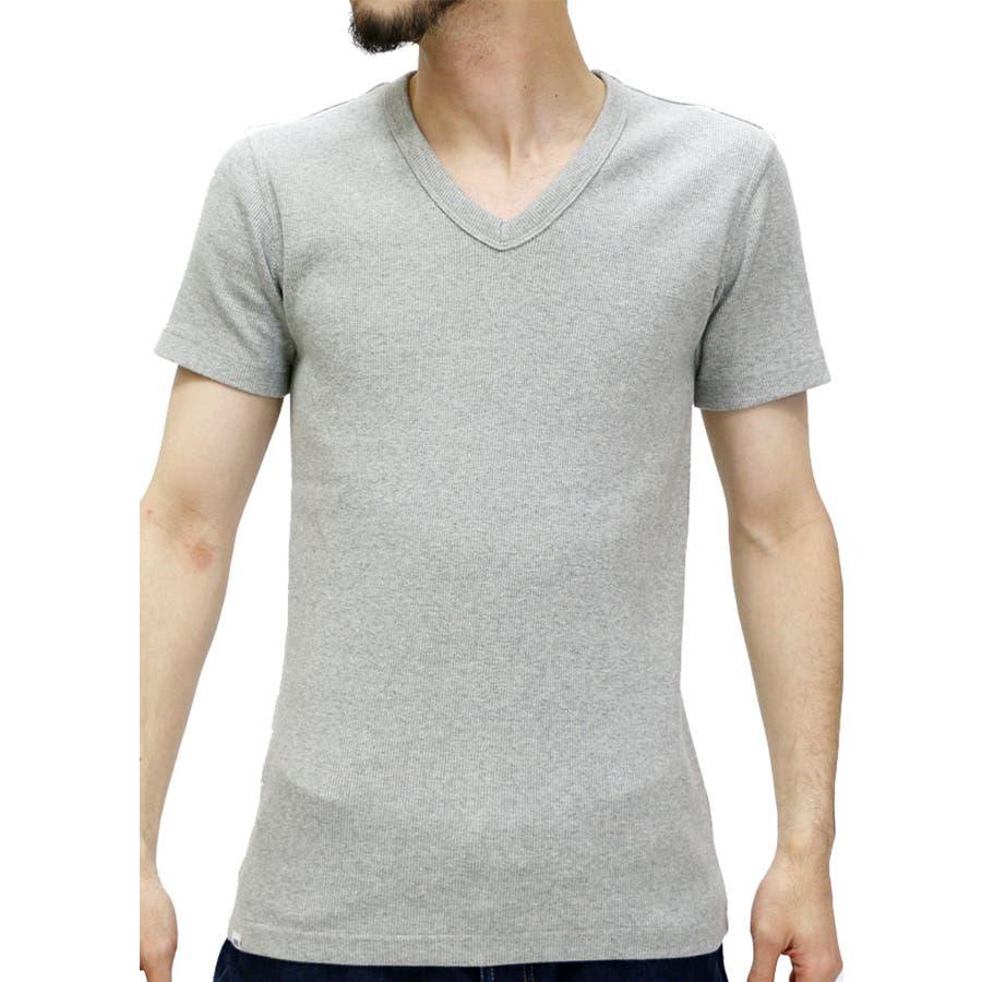 狙うはイケメンコーデ メンズファッション通販エドウィン Tシャツ メンズ ストレッチ テレコ 無地 Vネック Tシャツ 半袖  EDWIN ブランド ストレッチ リブティーシャツ 無地 アメカジ カジュアル インナー XL LL Tシャツメンズ カットソー 屋庭