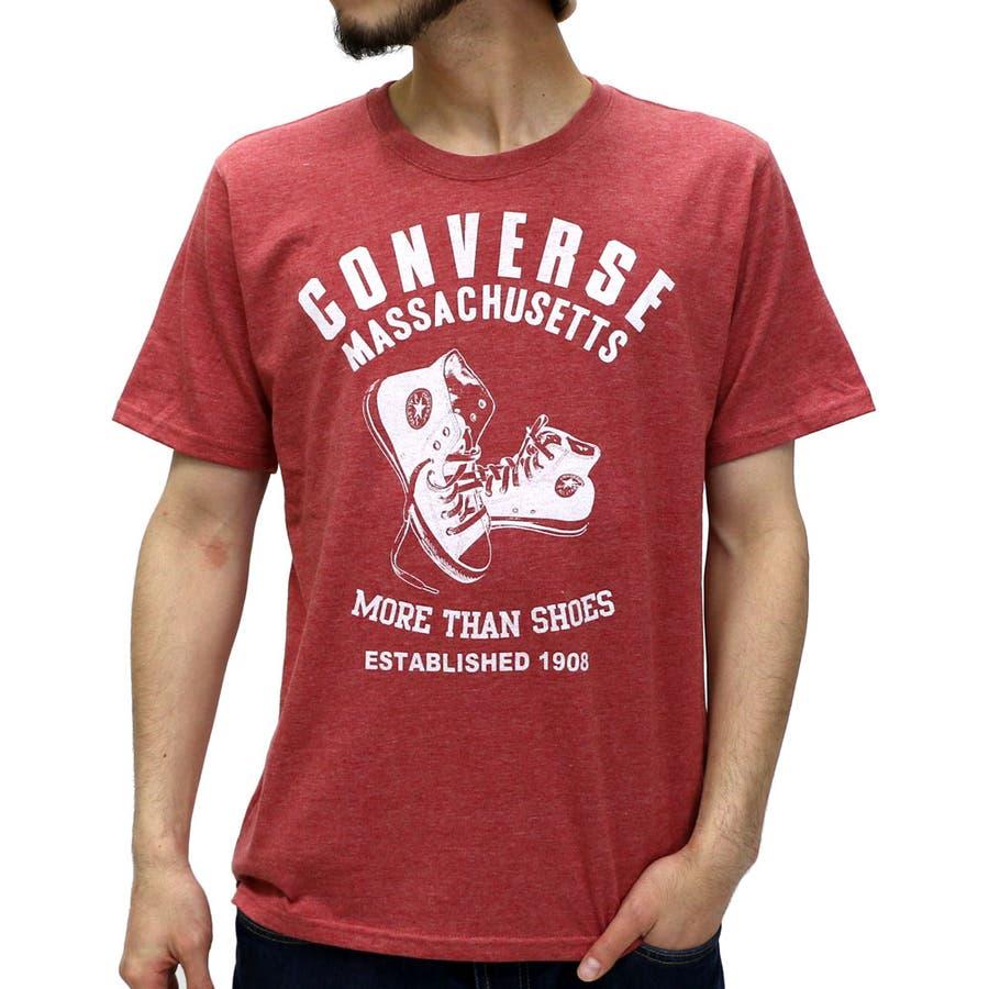 納得のクオリティ コンバース Tシャツ メンズ ALLSTAR プリント クルーネック Tシャツ 半袖  CONVERSE スポーツ ストリートティーシャツ XL LL Tシャツメンズ カットソー 豪放