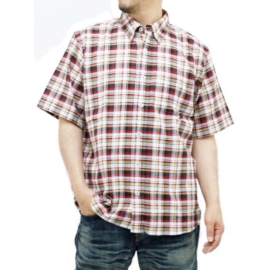 想像していた通り綺麗な色でした メンズファッション通販大きいサイズ メンズ シャツ 半袖 キングサイズ 2L 3L 4L 5L  ボタンダウン パナマ きれいめ シンプル 清潔感 チェック 通気性 売人
