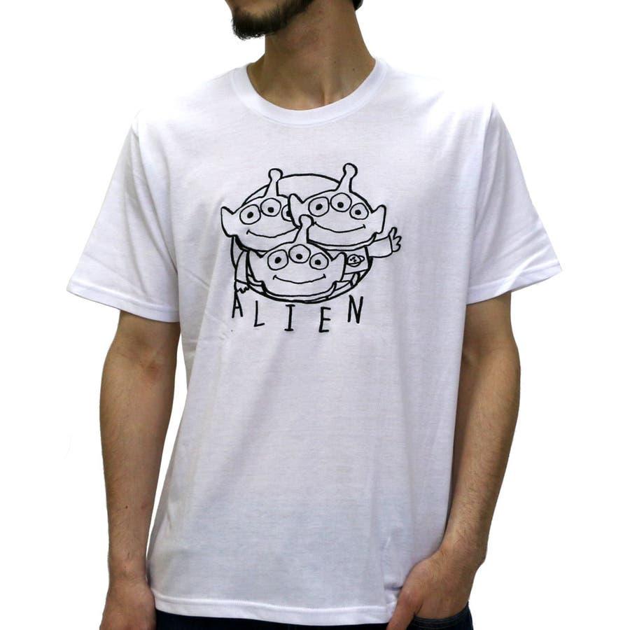 今の季節もってこいの一枚 メンズファッション通販ディズニー Tシャツ メンズ トイストーリー リトルグリーンメン プリント Tシャツ 半袖  disney TOYSTORY 手書き風おもしろ プリント ティーシャツ クルーネック XL LL カットソー Tシャツメンズ 刺繍 爆破