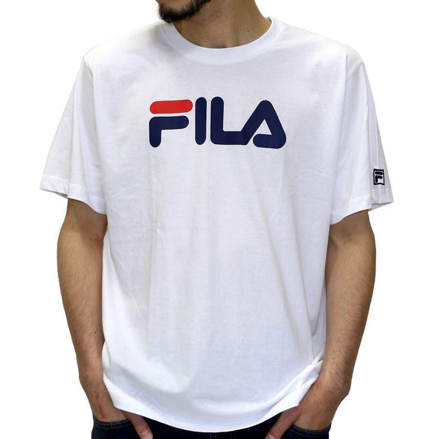 高級感があり、コスパが高い メンズファッション通販フィラ Tシャツ メンズ ロゴ プリント Tシャツ 半袖  FILA アメカジ ストリート スポーツ ブランド XL LLティーシャツ Tシャツメンズ 激越