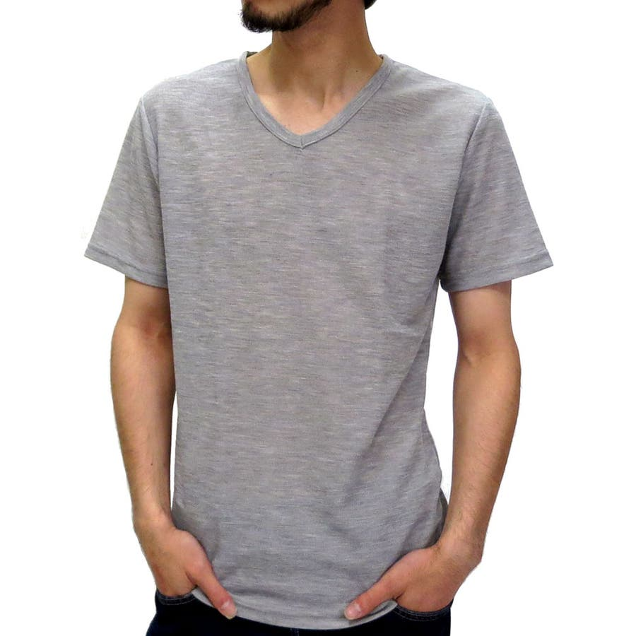 今、流行りのど真ん中 メンズファッション通販Vネック Tシャツ メンズ 杢ワッフル 無地 Tシャツ 半袖 カットソー  無地 Tシャツ Vネック Tシャツ Vネック無地 XLLL ティーシャツ カットソー Tシャツメンズ カジュアル 謝意