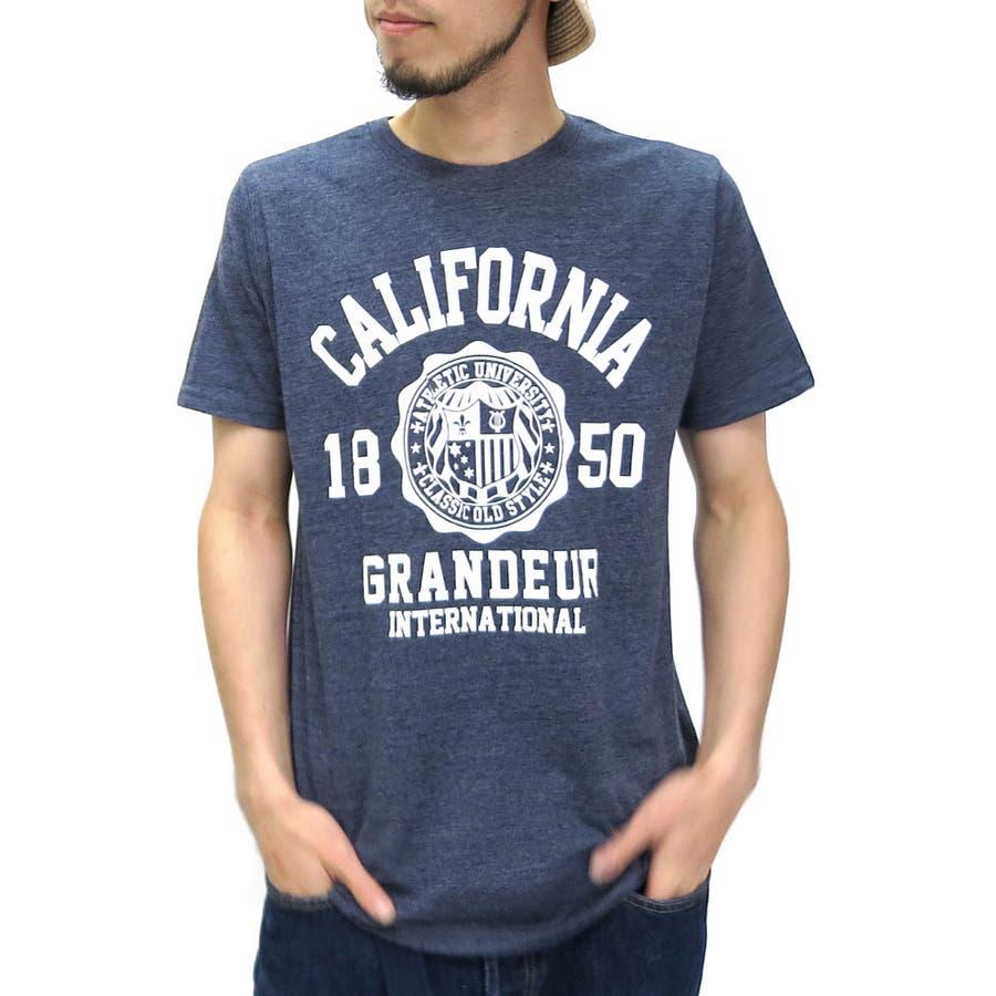 サイズもぴったりでよかったです! メンズファッション通販Tシャツ メンズ カレッジ プリント クルーネック Tシャツ 半袖  アメカジ プリント アメリカン プリント ティーシャツ プリントXL LL 夏 汚毒
