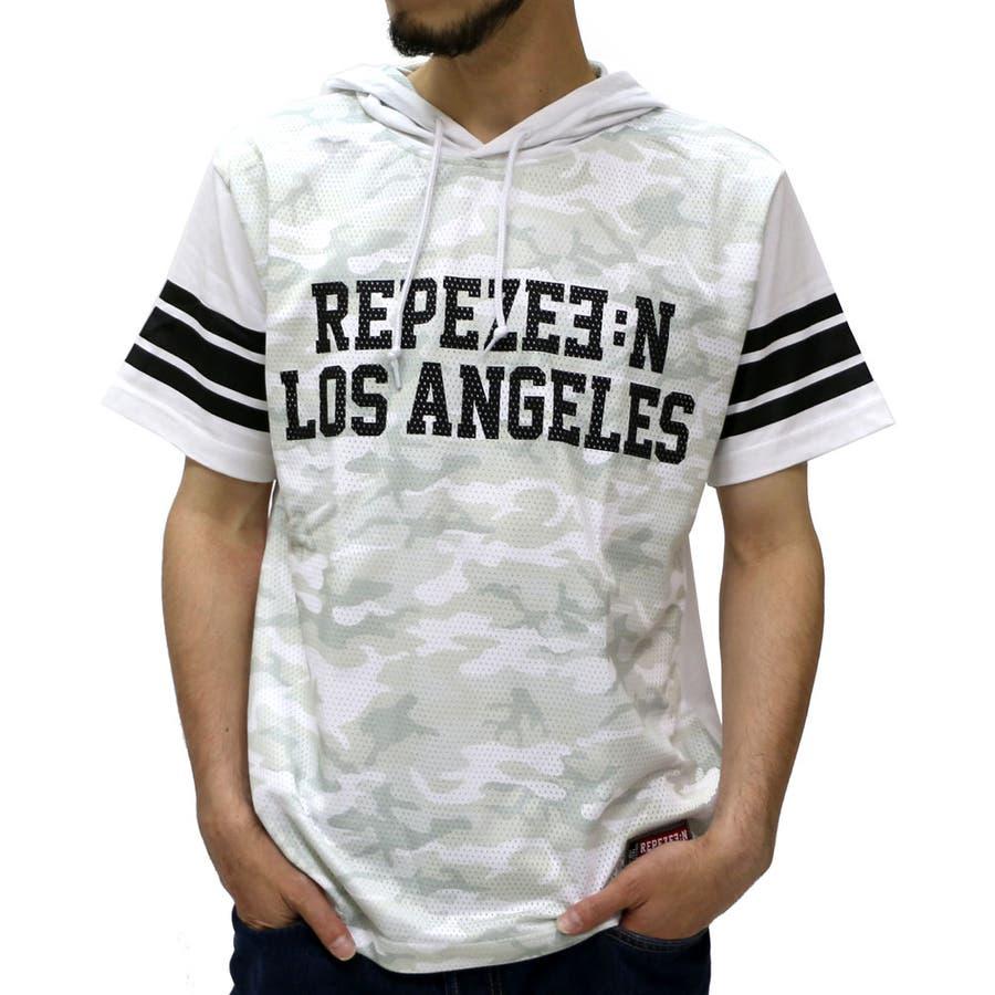 思ってたのよりはるかに良かった! パーカー Tシャツ メンズ 迷彩 カモフラ ストリート メッシュ プリント Tシャツ 半袖  ストリート メッシュ 迷彩 Tパーカーティーシャツ XL LL Tシャツメンズ 偶発