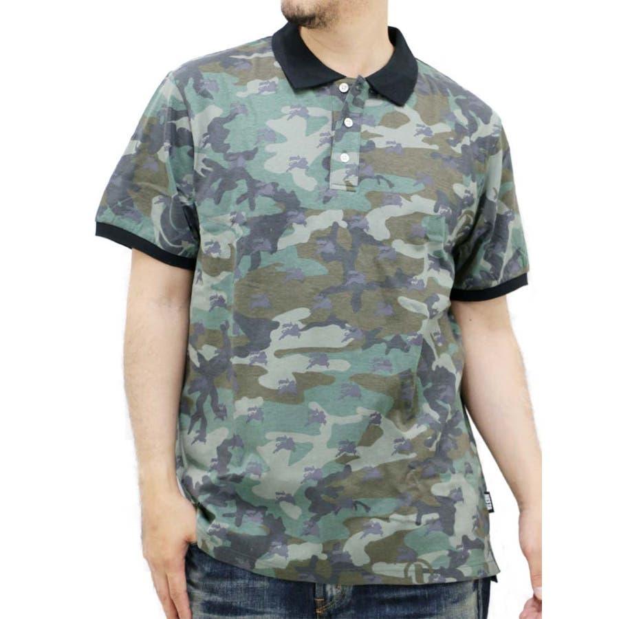 コスパがいいと思う! 大きいサイズ メンズ ポロシャツ 半袖 迷彩柄 NESTA BRAND キングサイズ XL 3L ネスタブランド カモフラ プリントライオン レゲエ ストリート 同調