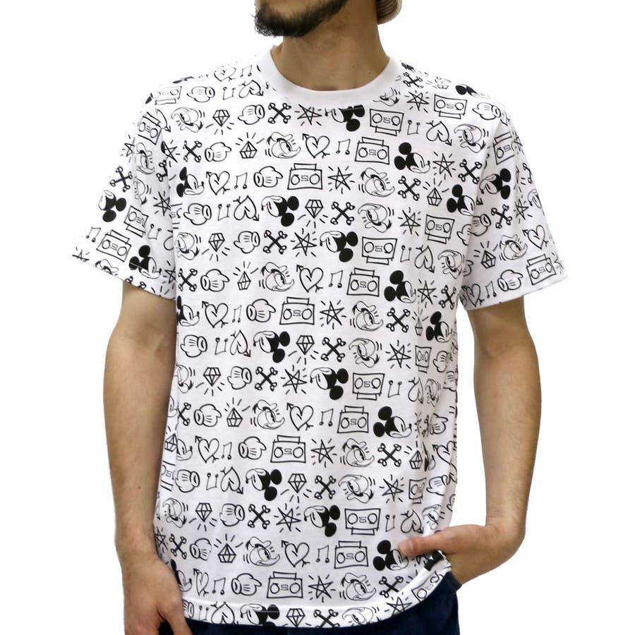 スタイリングが自在に楽しめる メンズファッション通販ディズニー ミッキー Tシャツ メンズ 総柄 プリント Tシャツ 半袖  Disney Tシャツ おもしろ かわいい プリントティーシャツ Tシャツメンズ XL LL カットソー 駁議