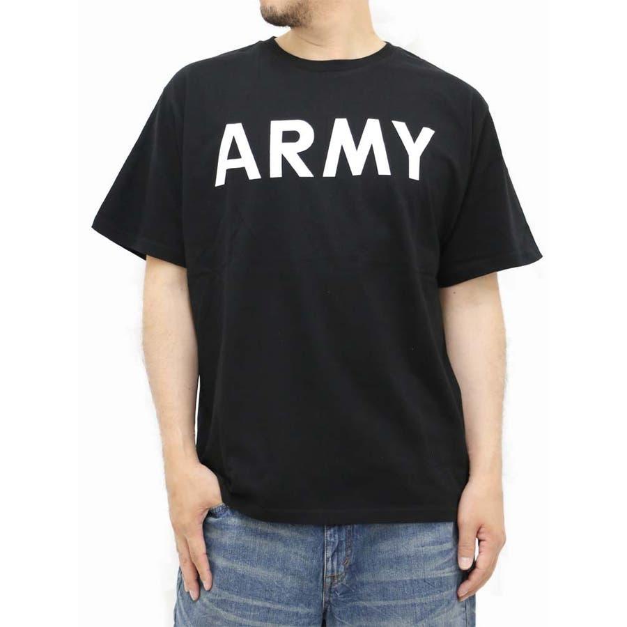 質感も良く形もいい感じです! メンズファッション通販大きいサイズ メンズ Tシャツ 半袖 キングサイズ 2L 3L 4L 5L プリント ミリタリー ARMY アーミー アメリカ 米軍シンプル 場末