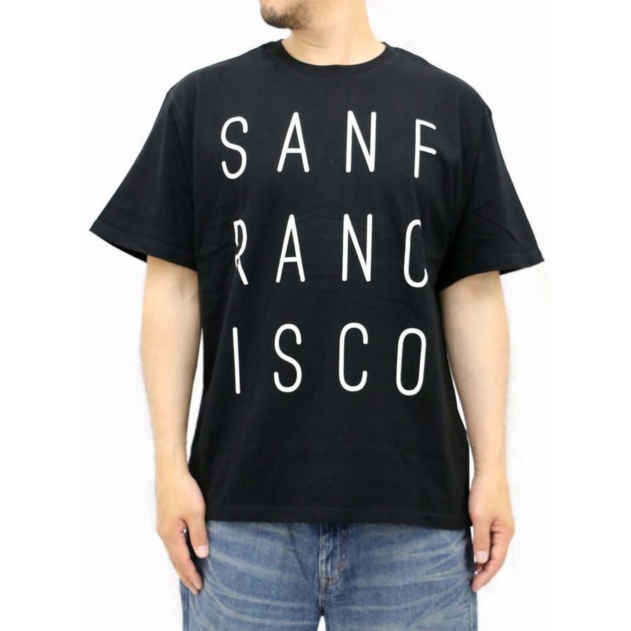 一歩踏み込んだスタイル 大きいサイズ メンズ Tシャツ 半袖 キングサイズ 2L 3L 4L 5L プリント SAN FRANCISCO サンフランシスコシンプル きれいめ 清潔感 井戸