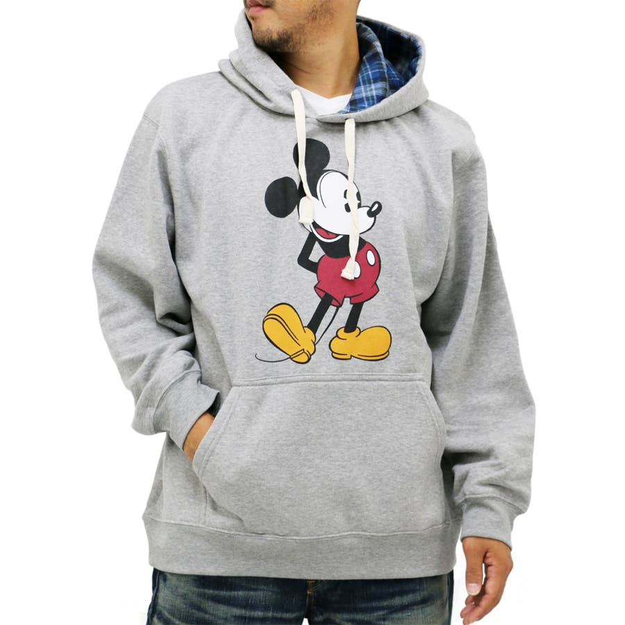 お洒落だよね、これ。 大きいサイズ メンズ スウェット プルオーバー パーカー Disney ミッキー キングサイズ 2L 3L 4L 5L ディズニーMickey Mouse マウス スエット 裏起毛 プル フード ブランド 合意