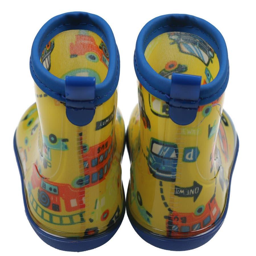 【子供服】 Kids Foret (キッズフォーレ) 車・恐竜総柄レインシューズ 14cm〜20cm B81862 8