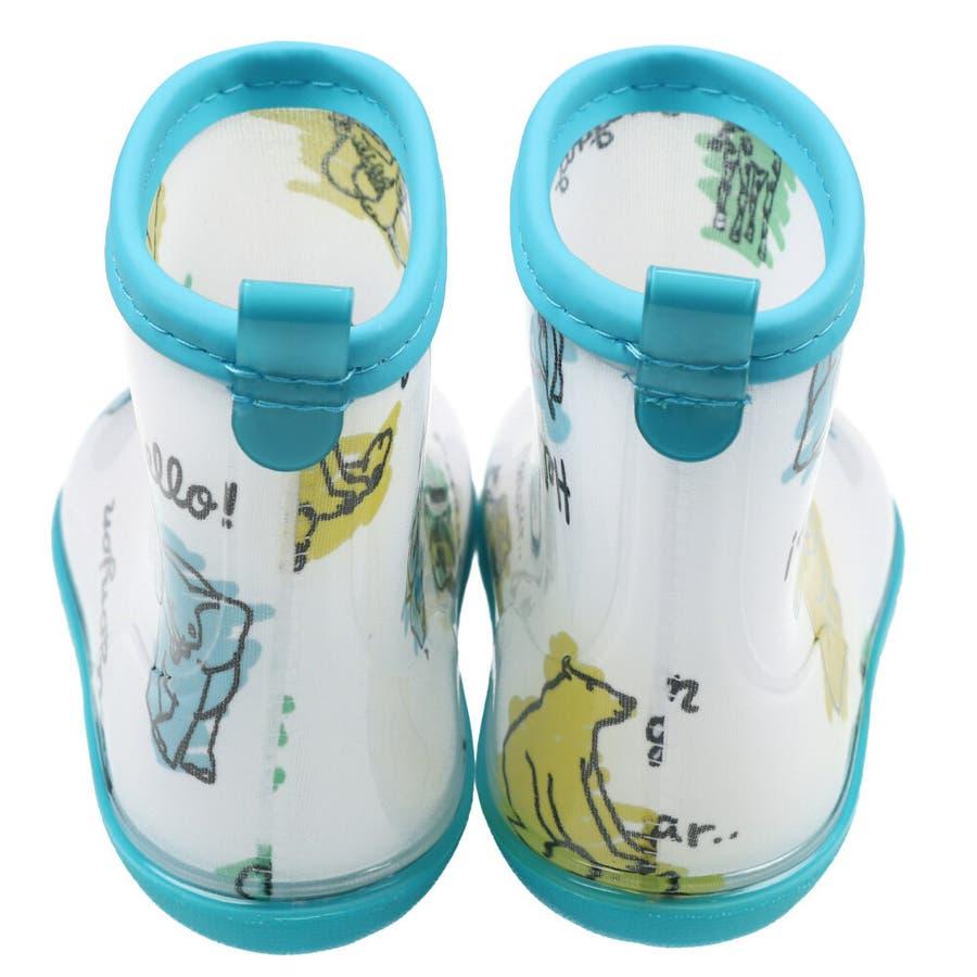 【子供服】 moujonjon (ムージョンジョン) 動物・お花総柄レインシューズ 14cm〜20cm B81868 7