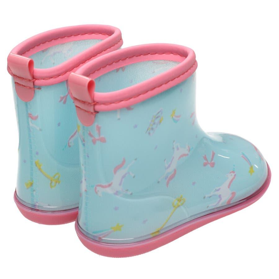 【子供服】 Kids Foret (キッズフォーレ) ユニコーン柄レインシューズ・長靴 14cm〜20cm B81880 5