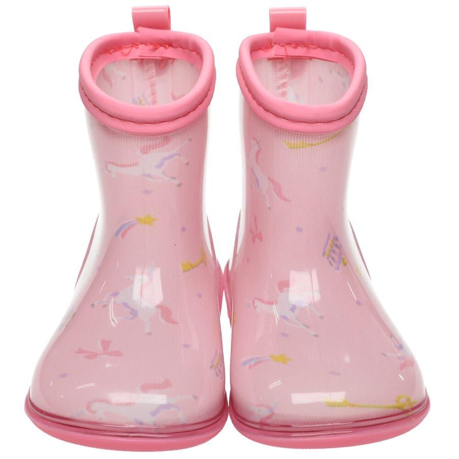 【子供服】 Kids Foret (キッズフォーレ) ユニコーン柄レインシューズ・長靴 14cm〜20cm B81880 6