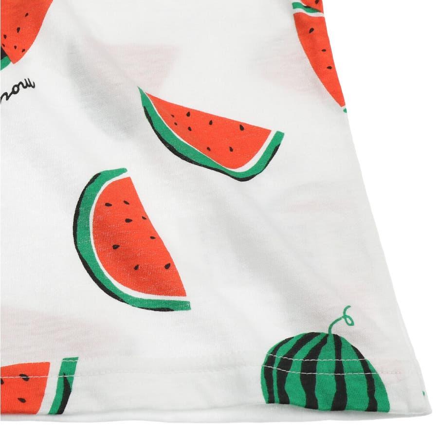 【子供服】 moujonjon (ムージョンジョン) 日本製スイカ・バナナ総柄半袖Tシャツ 80cm〜120cm M32861 7