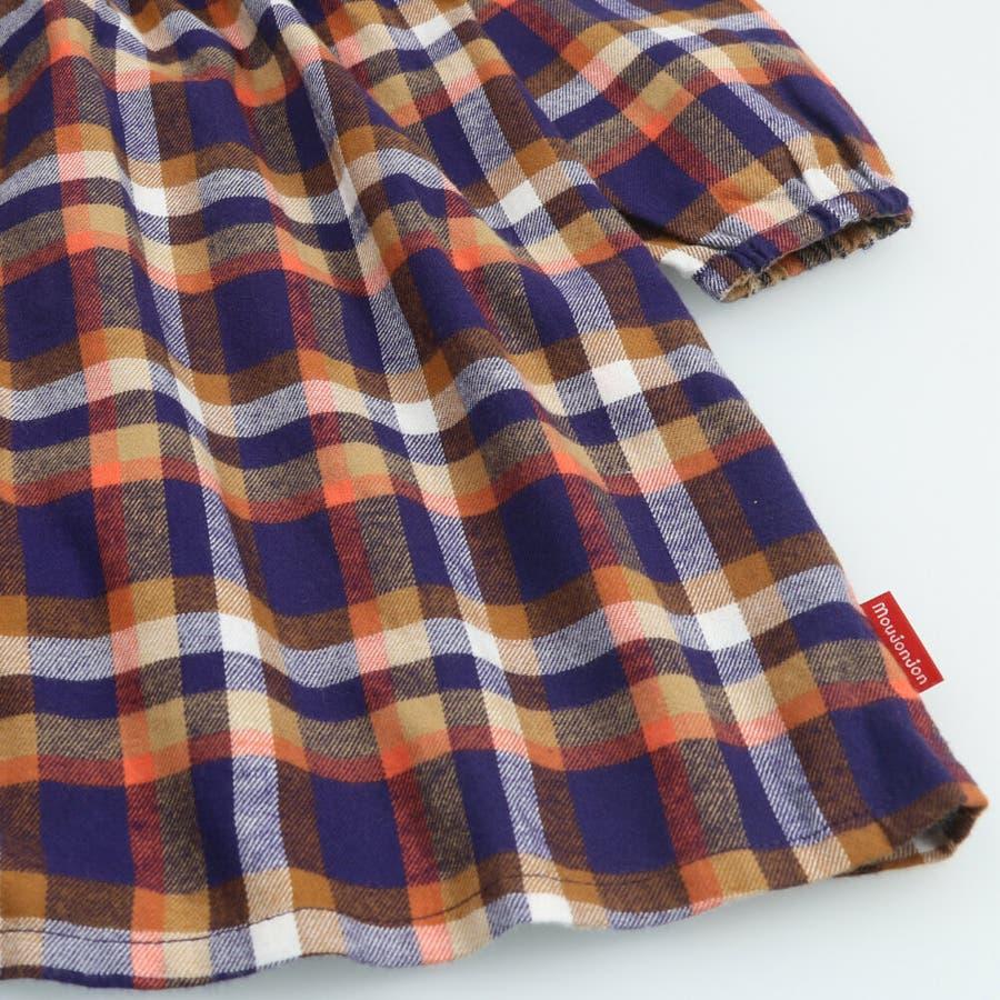 【子供服】 moujonjon (ムージョンジョン) チェックシャツワンピース 80cm〜140cm M52342 8