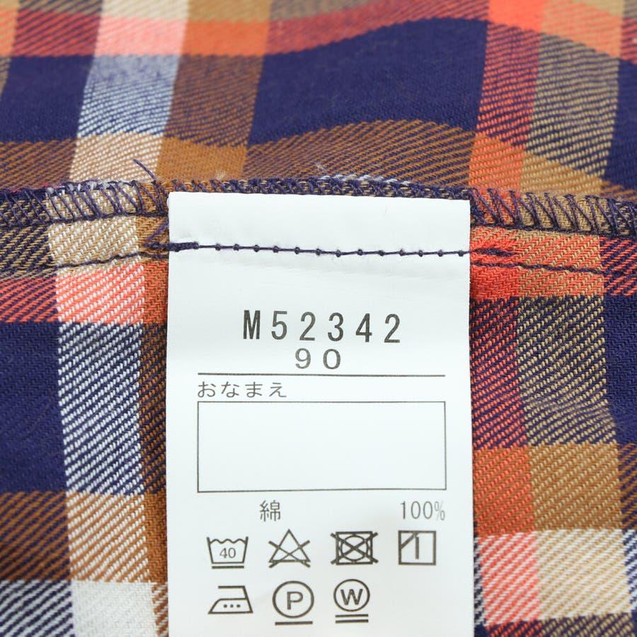 【子供服】 moujonjon (ムージョンジョン) チェックシャツワンピース 80cm〜140cm M52342 9